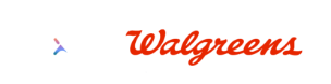 Lexie Hearing and Walgreens Logo. Lexie Hearing Aids are now available in Walgreens stores